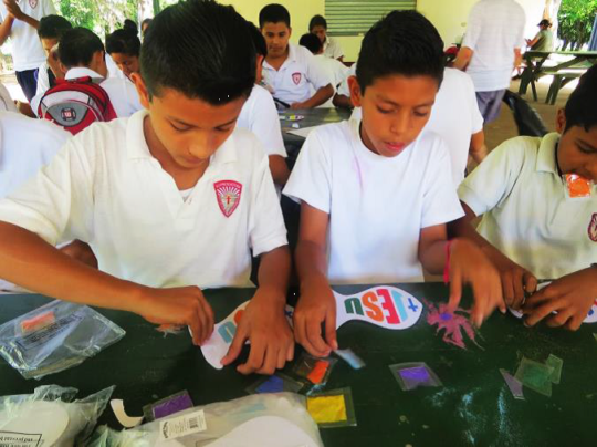 Children participate in Young Life crafts