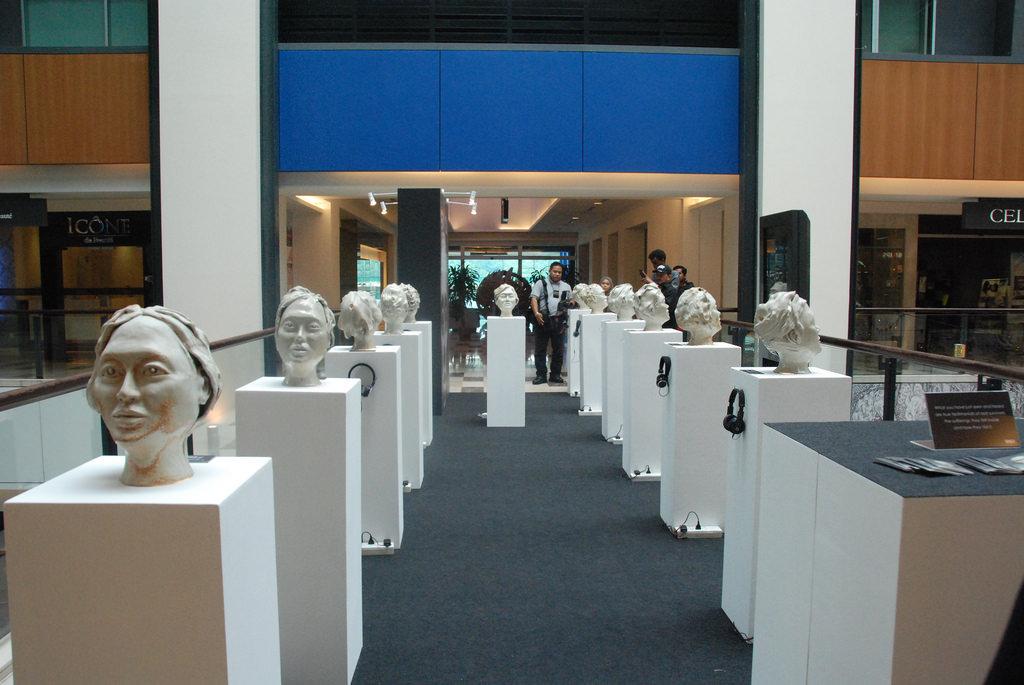 Ceramic sculptures at Publika