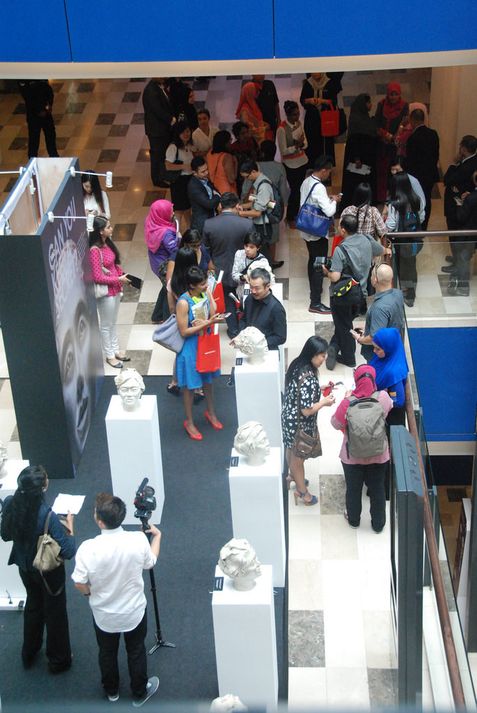 Visitors at the launch