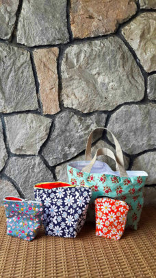 Colourful handmade bags