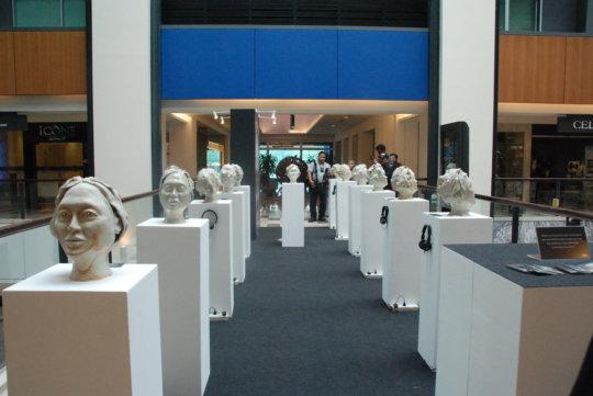 "Ceramic art installation ""Can You Keep A Secret"""