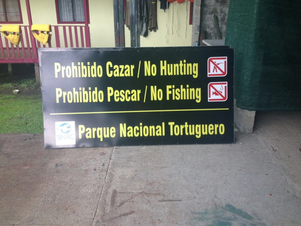 Brand new park signage