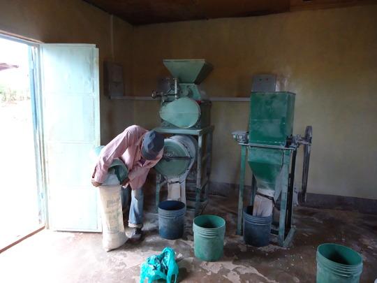 Inside of cassava mill