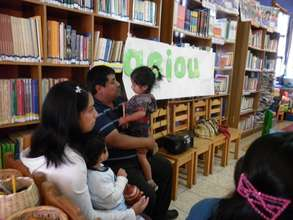 """Readers Families in Community Library """"Windows ope"""