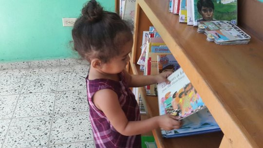 New reader at the Riecken Community Library