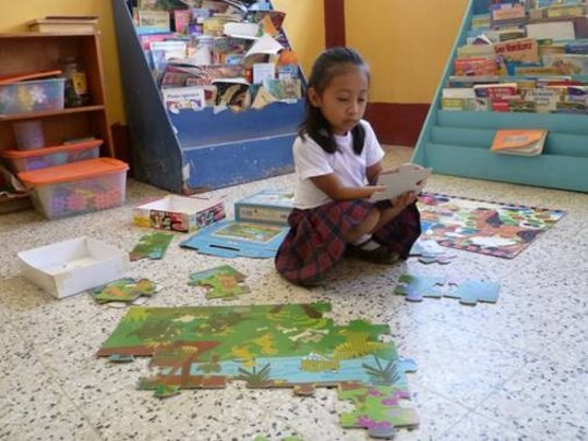 Child User at Library (La Libertad, Guatemala)