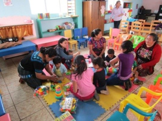 Mothers of Chiche (Guatemala) in an activity