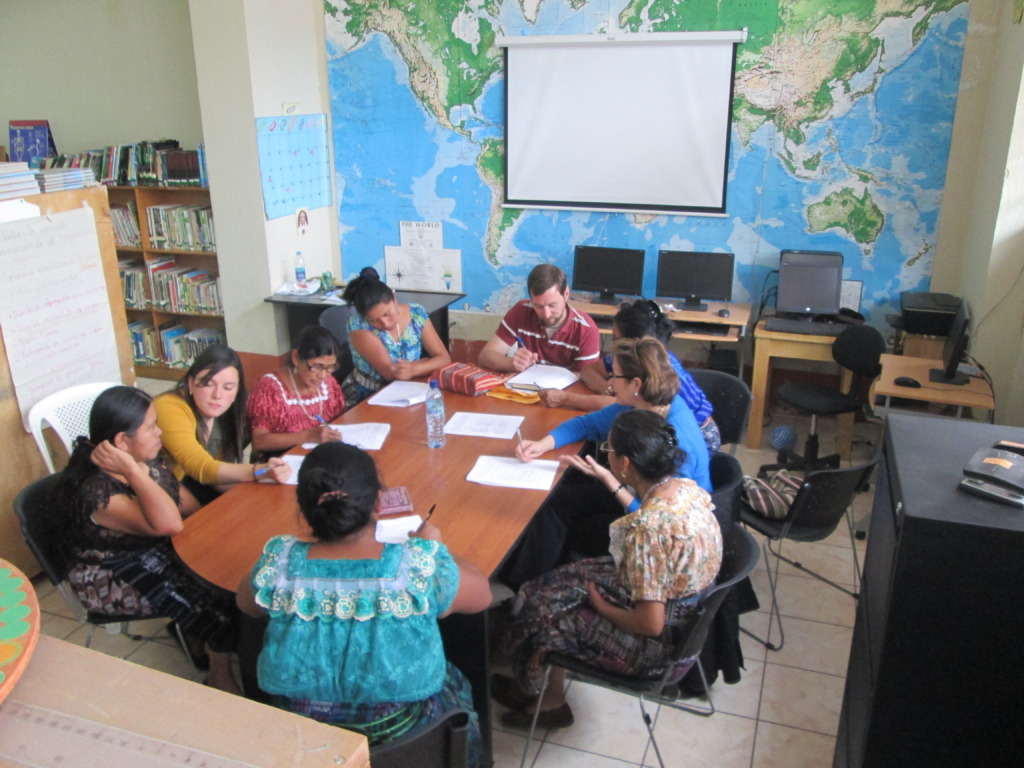 Meeting of women at library