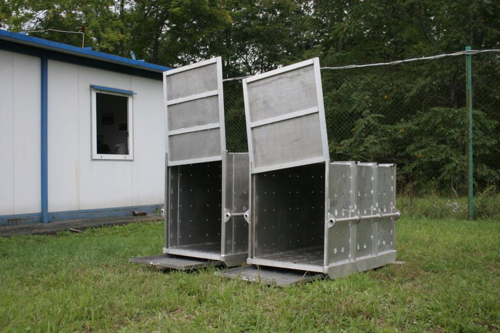 Cages for tiger transportation (c) Tiger Center
