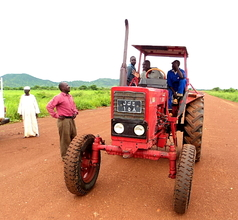 Tractor hired for cultivation of the land