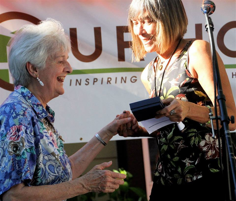 A well-deserved award to a long-time volunteer