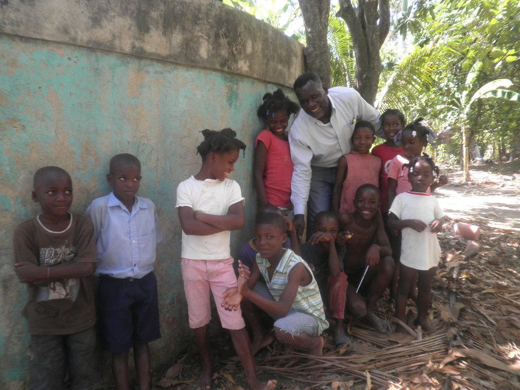 Children at the Lycee school in Mirebalais