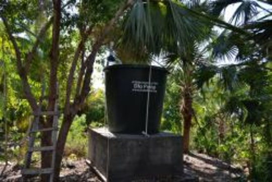 Water Tank at school in Jacmel
