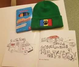 RAR coloring books and hats arrive!