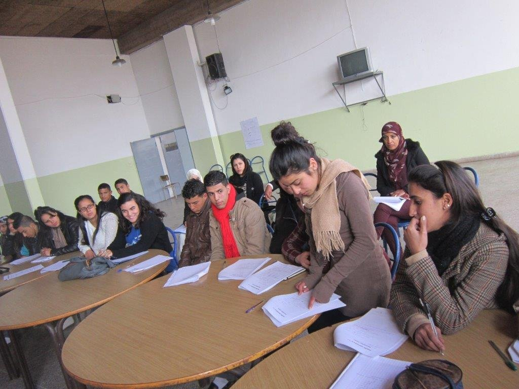 Youths during the course choice workshop