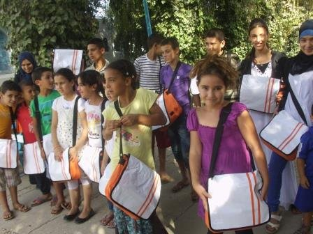 Distribution of school bags!
