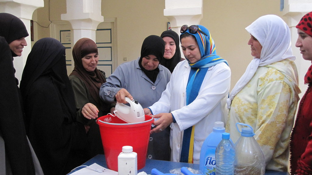 Soap manufacturing training session