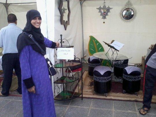Sobiha selling her ironwork designs