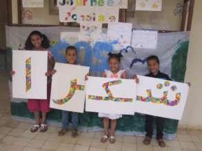 On behalf of the children, THANK YOU! (choukrane)