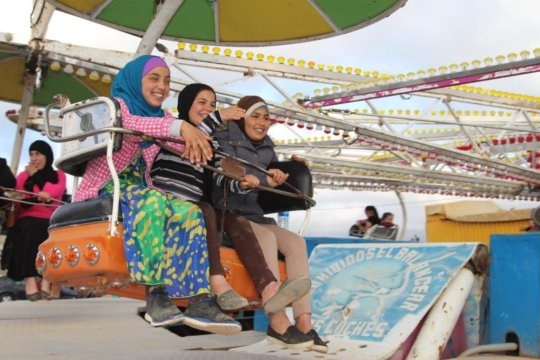 laughters at the funfair
