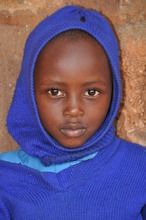 Young girl attending Mobile Clinic