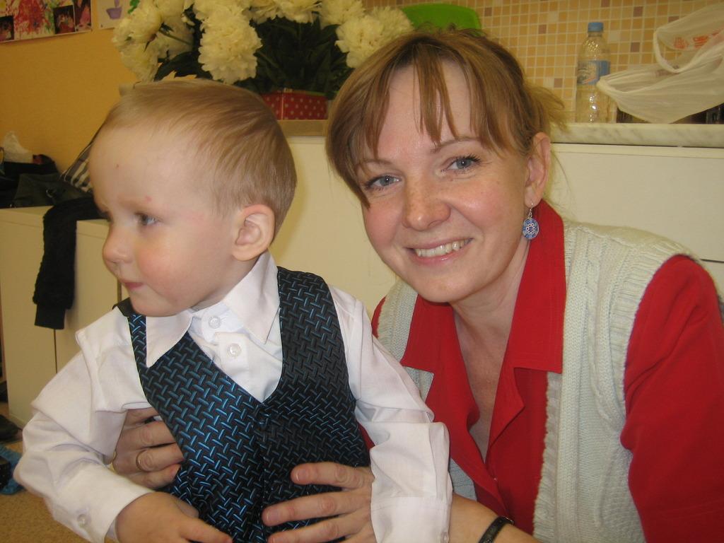 Savva and his mom.