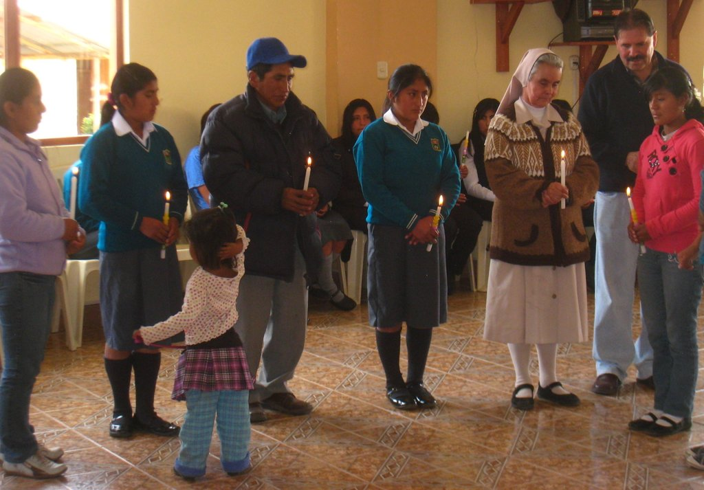 The welcoming ceremony for 3 new girls into P.P.