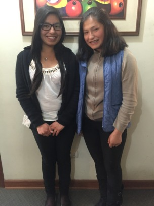 Peruvian Hearts scholars Lucero (left) and Andrea