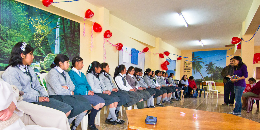 Ana speaks at the Peruvian Promise inauguration