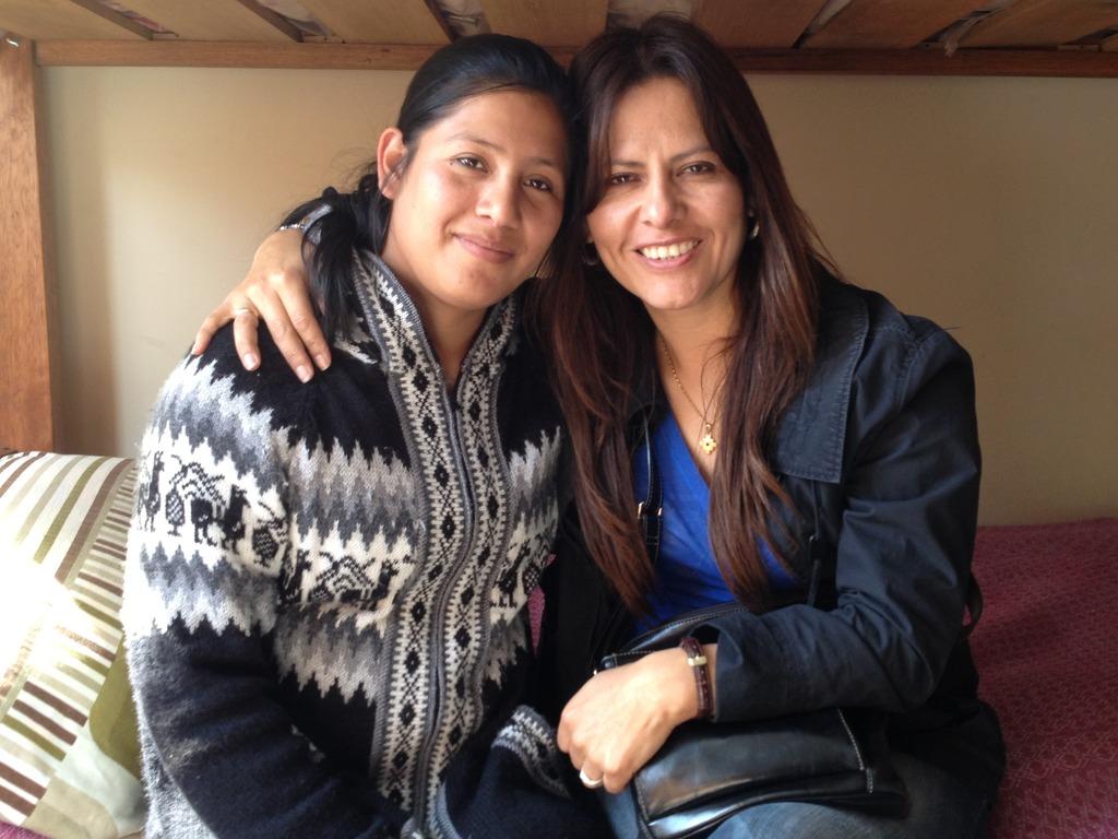 Elizabeth (left) with program director, Jeannette