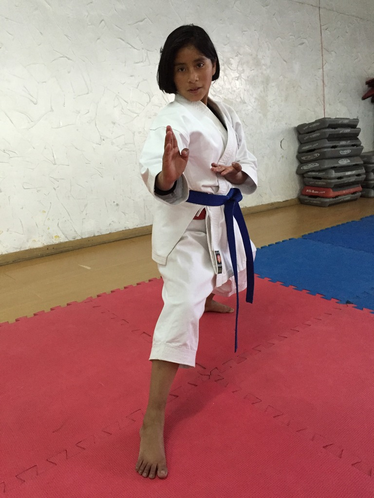 12-Year-Old National Karate Champion, Maricielo.