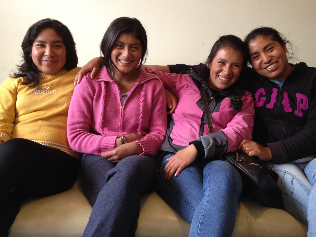 PP Scholars: Flor Nelida, Kati, Rosa and Ana