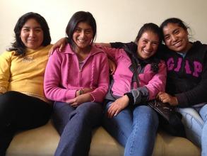 PP Scholars: Flor Nelida, Kati, Rosa and Ana