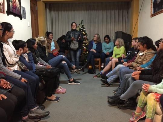 PH Scholar, Eli, Speaks to PH Visitors in Cusco