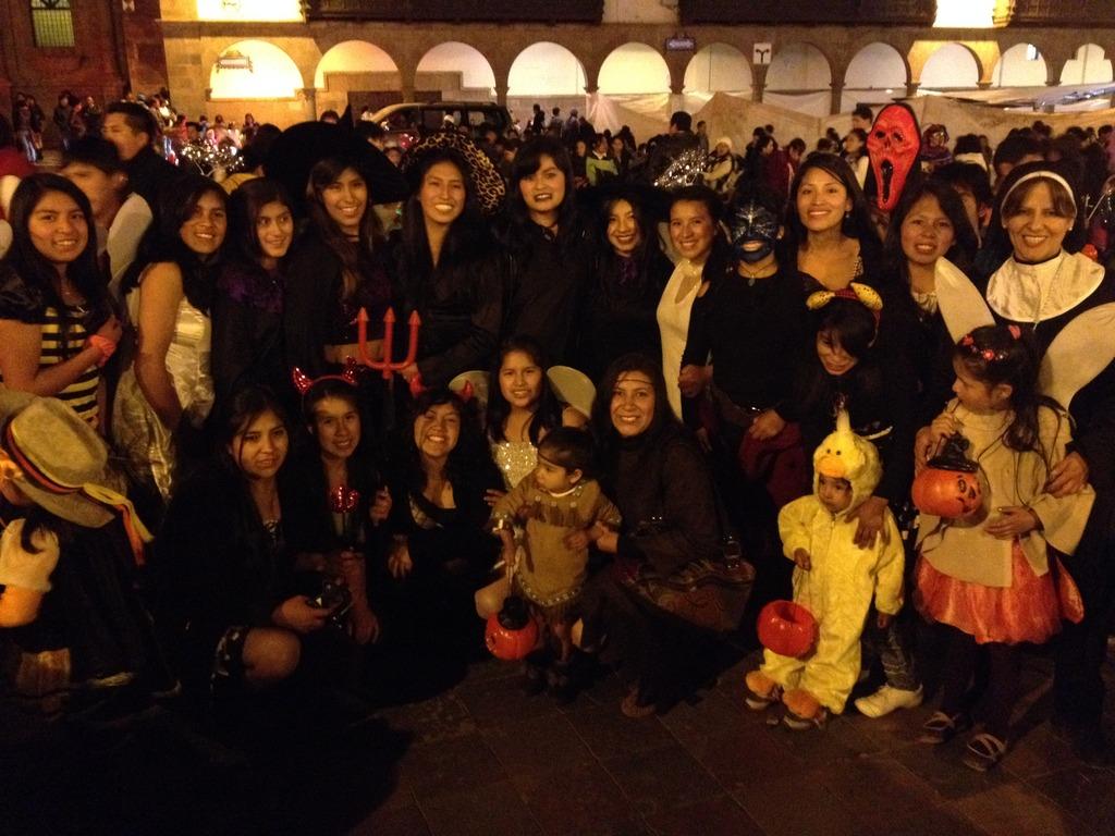 PP Scholars in Costume on Halloween!