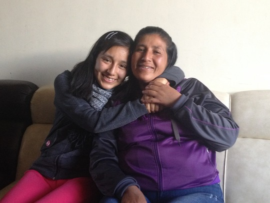 New PP Scholar, Kristel, with her mother