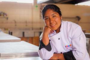 Flor Nelida will graduate as a chef in December.
