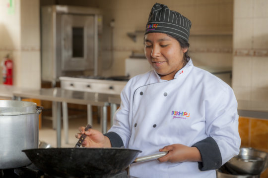 Nelly plans to open her own restaurant in Cusco.