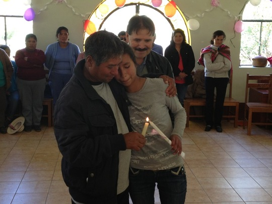 Roxana and her father during the special ceremony