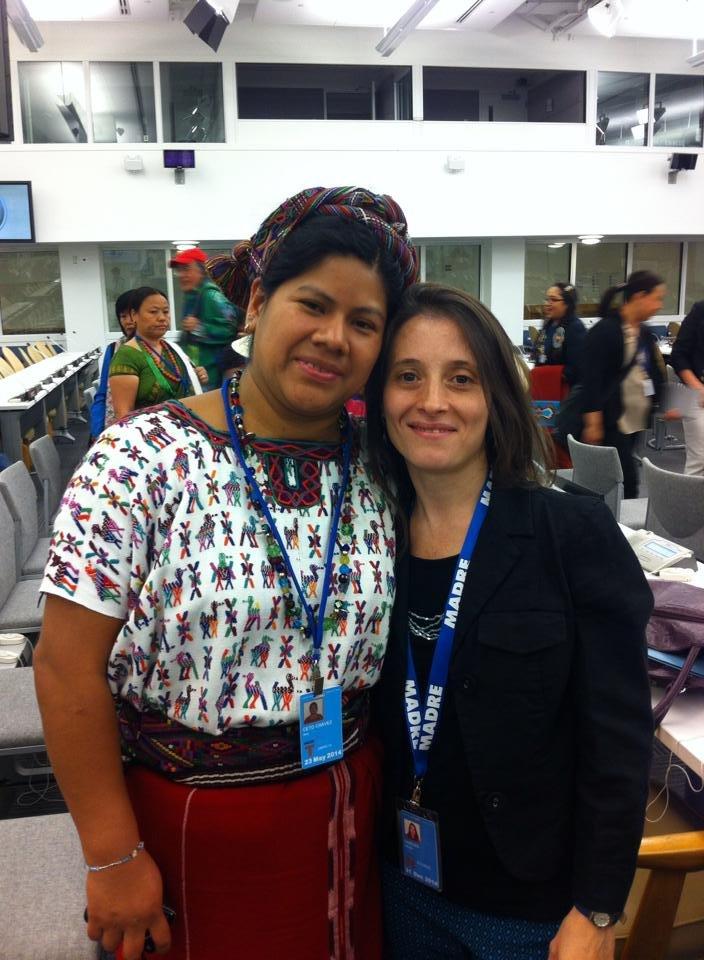 Ana with MADRE Program Director Natalia Caruso