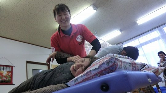 Massage session (Watari Town, Miyagi Prefecture)