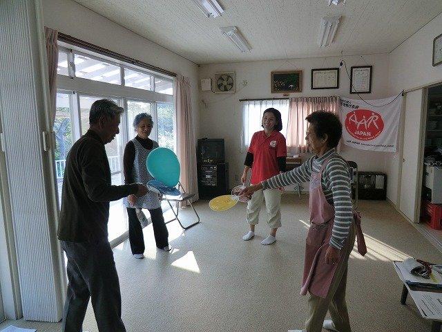 Playful exercise (Oshika Peninsula, Miyagi Pref.)