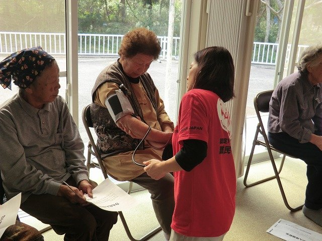 Blood pressure check (Oshika Peninsula, Miyagi P.)