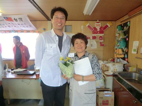 Ms. Rumiko ABE (right) with Mr. Junji SUGITA