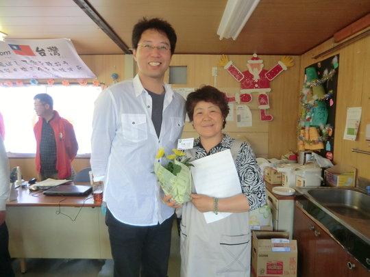 Ms. Rumiko ABE (right) with Mr. Junji SUGITA