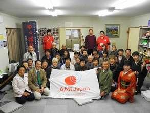 Group shot at Takagi Temporary Housing Complex