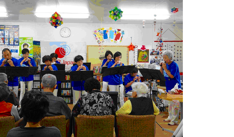 The local musicians played the ocarina (4 Oct
