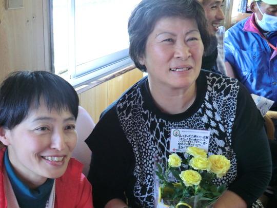 Ms. Toyoko TSUKADA (right) with AAR Japan Staff