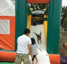 Balloon playground was particularly popular