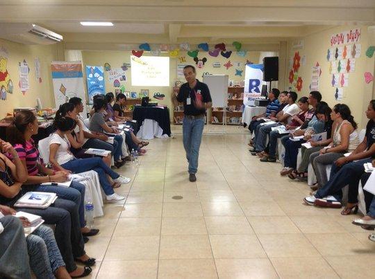 Honduran Director Paco Alcaide conducing training